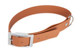 BioThane Halsband Basic 25mm hellbraun