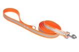 BioThane Leine 19mm mit Handschlauf Reflekt orange