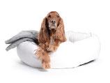 Hundebett K-Nax Kunstleder weiss