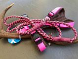 Passende Leine zu Annyx Brustgeschirr Fun braun/rosa  Sonderfarbe