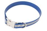 BioThane Halsband Clip 19 mm reflekt blau