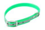 BioThane Halsband Basic 25mm reflekt hellgrün