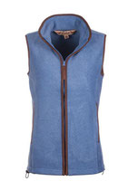 Damen-Huggate-Fleece-Weste blau
