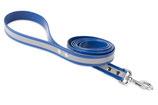BioThane Leine 19mm mit Handschlauf Reflekt blau