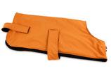 Softshell Jacke für Hunde orange/schwarz