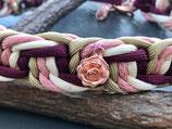 Happyflati geflochtenes Schlupf-Halsband roségold mix