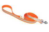 BioThane Leine 25mm mit Handschlauf Reflekt orange