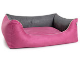 Hundebett Advin Wildlederimitat pink/grau