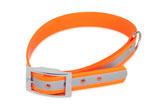 BioThane Halsband Basic 25mm reflekt orange