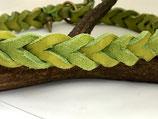Geflochtenes Fettlederhalsband hellgrün