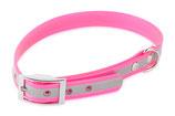 BioThane Halsband Basic 25mm reflekt rosa
