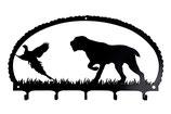 Schlüsselbrett - Drahthaariger Vorstehhund - anzeigend