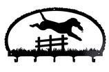 Schlüsselbrett- Labrador Retriever springend