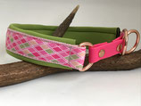 Happyflati Halsband Harlekin pinkkgrün