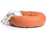 Hundebett K-Nax Kunstleder terracotta
