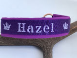 Individuell besticktes Halsband Violette.