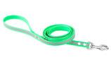 BioThane Leine 19mm mit Handschlauf Reflekt hellgrün