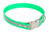 BioThane Halsband Clip 25 mm reflekt hellgrün