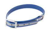 BioThane Halsband Basic 25mm reflekt blau
