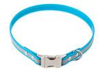BioThane Halsband Clip 19 mm reflekt türkis