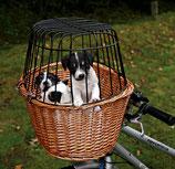Trixie Fahrradkorb mit Gitter, 44 × 48 × 33 cm, natur