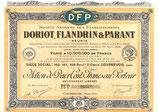 Te koop: Aandeel S.A. des Établissements Doriot, Flandrin & Parant uit 1918.
