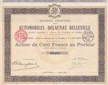 Te koop: Origineel aandeel Delaunay Belleville.