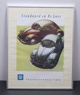 Te koop: Reproductie achter glas in een aluminium lijst 40x50cm.