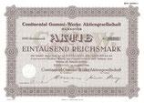 Te koop: Aandeel Continental Gummi-Werke A.G. uit 1941.