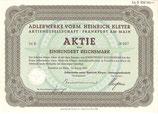 Te koop: Origineel aandeel Adler uit 1935.