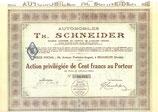 Aandeel (blanket) Th. Schneider uit 1924.