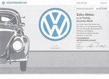 Origineel aandeel Volkswagen.