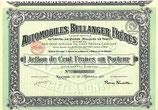 Te koop: Aandeel Automobiles Bellanger Frères S.A. uit 1920.