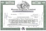 Origineel certificaat voor 100 aandelen  Massey-Ferguson te koop.