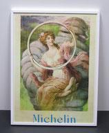 Te koop: reproductie achter glas in een aluminium lijst 40x30cm, Michelin.
