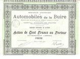 Te koop: Aandeel S.A. Automobiles de la Buire uit 1905 (Capital 2.000.000 de Francs).