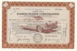 Te koop: certificaat voor aandelen Kaiser-Frazer.