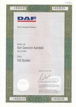 Origineel aandeel DAF.