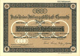 Te koop: Origineel aandeel Auto Union uit 1932.
