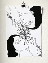 Limitierter Siebdruck - Flowers
