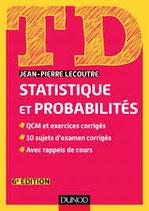 TD Statistique et probabilités, 6e édition, J.-P. LECOUTRE