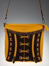 Sac corset jaune et brun
