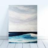 La vague  -  65x50cm