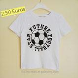 T-shirt blanc football star 4/6 ans