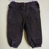 Pantalon en velours doublé 12 mois