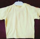 T-shirt uni jaune 12 mois