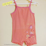 Barboteuse corail 2 ans