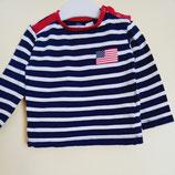 T-shirt manches longues marin US 1an