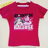 T-shirt humour rose 8 ans