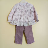 Pantalon en velours et blouse Obaïbi 18 mois